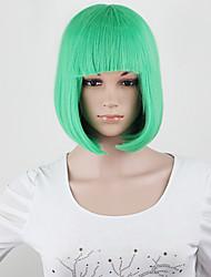 Uma qualidade! 10 cores bob mulheres perucas curtas senhoras negras sintéticas perucas mulheres perucas de cabelo cosplay retas curtas
