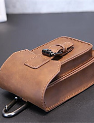Men Waist Bag PU Casual Brown