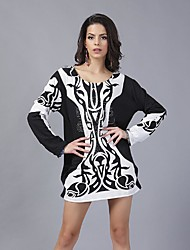 In Colour Women's Round Neck Long Sleeve Mini Dress-145