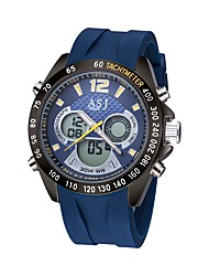 ASJ Top Brand Silicone Strap Sport Dual Time Watch Electronics Dive Swim Gift
