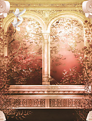 JAMMORY 3XL(14'7''*9'2'')3D Wallpaper For Home Contemporary Wall Covering Canvas Material White Pillars
