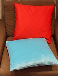 Set Of 2 Red&Blue Cotton/Linen Pillow Cover