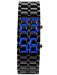 Herren Modeuhr Armbanduhr Einzigartige kreative Uhr digital LED Kalender Silikon Band Armreif Schwarz SilberSilber Schwarz/Rot