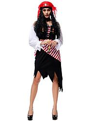 Costumes de Cosplay / Costume de Soirée Pirate Fête / Célébration Déguisement Halloween Noir Couleur Pleine RobeHalloween / Noël /