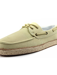 Men's Flats Spring Flats Canvas Casual Flat Heel Slip-on Blue / Yellow / Beige / Navy Others