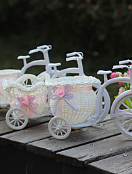 Artificial flowers Plastic Tricycle Bike Flower basket Float Container vase Party Home Decoration
