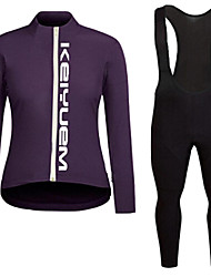 KEIYUEM®Spring/Summer/Autumn Long Sleeve Cycling Jersey+Long Bib Tights Ropa Ciclismo Cycling Clothing Suits #L82
