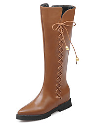 Women's Boots Fall / Winter Fashion Boots / Pointed Toe Party & Evening / Dress / Casual Platform Zipper / Lace-up
