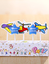 partido decoración de velas de cumpleaños de ajuste (5 piezas) feliz cumpleaños velas pequeñas de dibujos animados