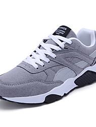 Femme-Sport-Noir / Bleu / Gris-Talon Plat-Confort-Sneakers-Tissu