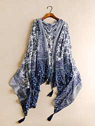 Women Cotton Scarf,Vintage / Casual RectanglePrint