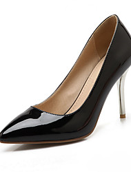 Women's Pull On Pu Pointed Closed Toe Spikes Stilettos Solid Pumps-Shoes