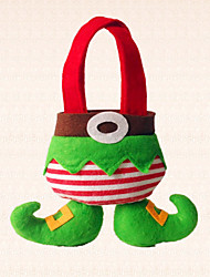1pc Christmas Elf with Boot Candy Bag Decoration Home Holiday Party Lovely Gifts for Children