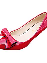 Damen-High Heels-Lässig-Leder-StöckelabsatzSchwarz Rosa Rot Weiß Grau