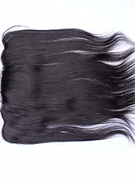 "Malaysian Virgin Hair Silk Straight Free Part 13""x 4"" Lace Frontal with Baby Hair"