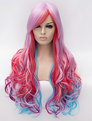 Light purple.Cosplay wig, wind Lolita Lolita multi color gradient wig, daily wig wig