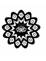 Mandala Flower Namaste Vinyl Sticker Art Decor Mandala Indian Pattern Decals For Religion Mandala Indian Wall Sticker
