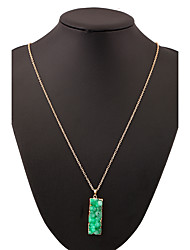Necklace Pendant Necklaces Jewelry Light Green / White / Green / Pink Alloy Daily / Casual 1pc Gift