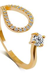 Ringe Modisch Hochzeit / Party Schmuck Aleación Damen Statementringe 1 Stück,6 / 7 / 8 / 9 Goldfarben / Silber