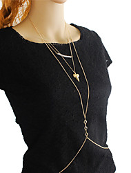 Gold Plated Sexy Body Chain Jewelry
