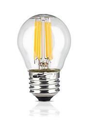 6 E26/E27 LED Kugelbirnen G45 6 COB 600 lm Warmes Weiß Wasserdicht AC 220-240 V 1 Stück