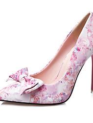 Damen-High Heels-Lässig-PU-Stöckelabsatz-Absätze-Blau / Rosa