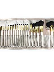24 Conjuntos de pincel Escova de Nailom Portátil Madeira Rosto Outros