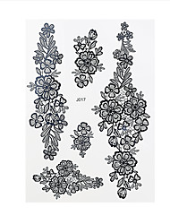 1pc Black Waterproof Tattoo Flower Woman Arm Body Art Temporary Henna Tattoo Sticker BJ017