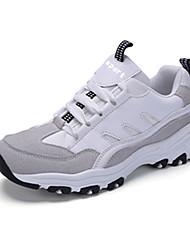 Damen-Sneaker-Lässig Sportlich-PU-Flacher AbsatzSchwarz Weiß