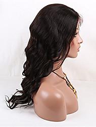 """100% solta onda cor natural brasileiro do cabelo virgem cheia do laço do cabelo humano peruca 20 """"-28"""" 130 denisity para as mulheres"""