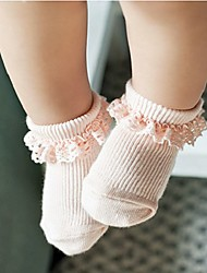 Baby Casual/Daily Solid Underwear & Socks,Cotton,Spring / Fall,Pink / White