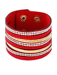 Bracelet Bracelets de tennis Alliage Forme de Cercle Mode Mariage Bijoux Cadeau Noir / Blanc / Rouge / Bleu / Brun / Gris,1pc