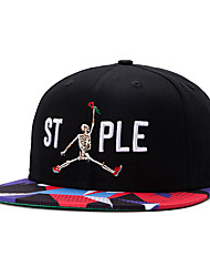 Hip Hop Men Women Letter And Jump Skull Embroidery Street Dance Baseball Caps