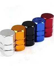 tapas de neumáticos de automóviles de aluminio, tapas de válvulas para la mayoría de modelo