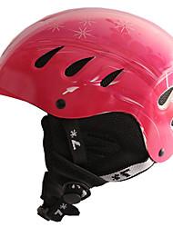 Универсальные шлем Л: 58-61CM Спортивные Ультралегкий (UL) Фиксированный 14 CE EN 1077 Снежные виды спорта / Лыжи КрасныйПоликарбонат /