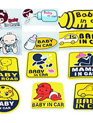 In Car BABY IN CAR Reflective Baby Baby Car Stickers Car Stickers Car Stickers Mama Baby Mousse