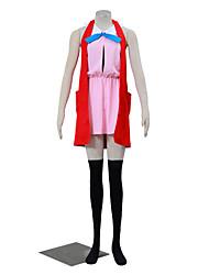 Вдохновлен Pocket Monster Серена Аниме Косплэй костюмы Косплей Костюмы Однотонный Черный / Красный / Розовый Без рукавовПальто / Платье /
