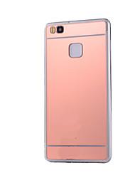 Кейс на заднюю панель Покрытие / Зеркальная поверхность Однотонные Акрил жесткий Для крышки случая HuaweiHuawei P9 / Huawei P9 Lite /