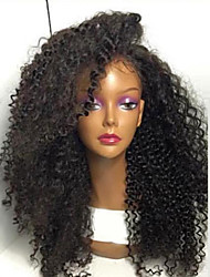 Top Quality High Quality Hair Synthetic Natural Black Color Kinky Curly Lace Front Wig In Stock