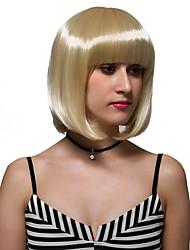 curto cabelo loiro, e da moda discoteca perucas.
