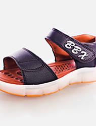 Para Meninas-Sandálias-Light Up Shoes-Rasteiro-Preto Azul Marrom Branco-Couro Ecológico-Casual