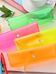 Cute Four-Color Candy Color Transparent Pencil Case Solid Color Fresh Storage Bag