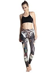 MIDUO Women's Compression Yoga Bottoms Gray-YD46 033