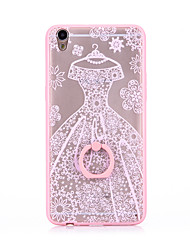 Ring Holder Frosted /  Translucent / Embossed / Pattern Lace Wedding DressPrinting K04 TPU for iPhone 6/6s/6plus/6s plus