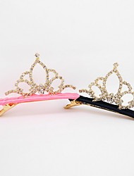 Korean Flower Girl's Tiaras Brick  Fabric Hair Clip