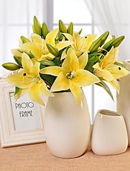10 10 Ast PU Lilien Tisch-Blumen Künstliche Blumen 36CM