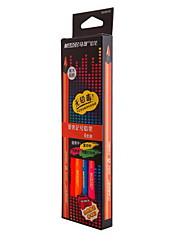 MARCO Mark 9205 b - 06 Coarse Triangular Black Wooden Dazzle Beautiful 6 Color  Pencil