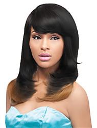 couleur ombre noir blond cosplay mixte perruques synthétiques perruques droites bon marché pour les femmes noires perruques