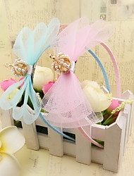 Korean Flower Girl's Bow Tiaras  Fabric Headbands