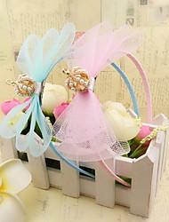 ободки ткани лук диадемы корейскими девушки цветка